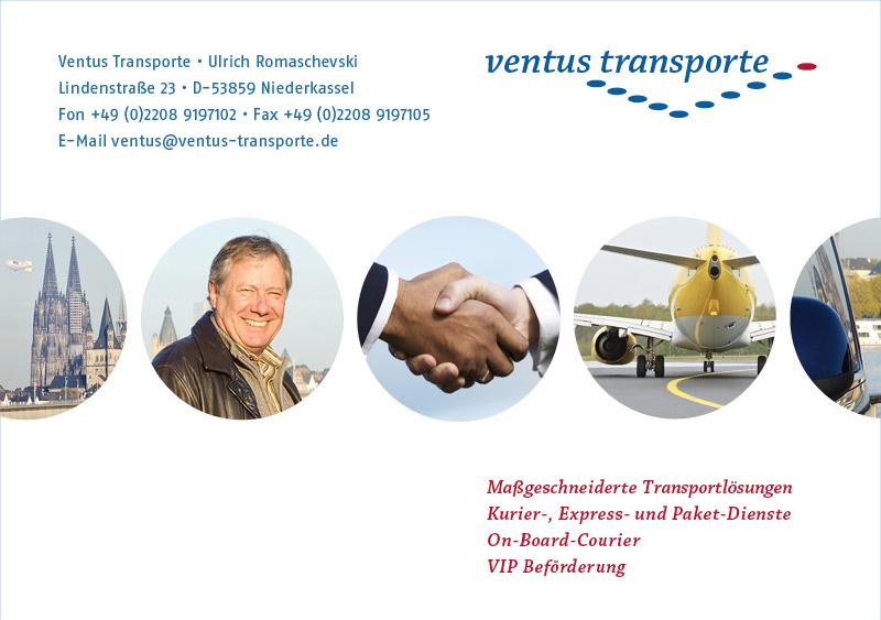 Ventus Transporte GbR, Kurierdienste, OBC, Sonderfahrten