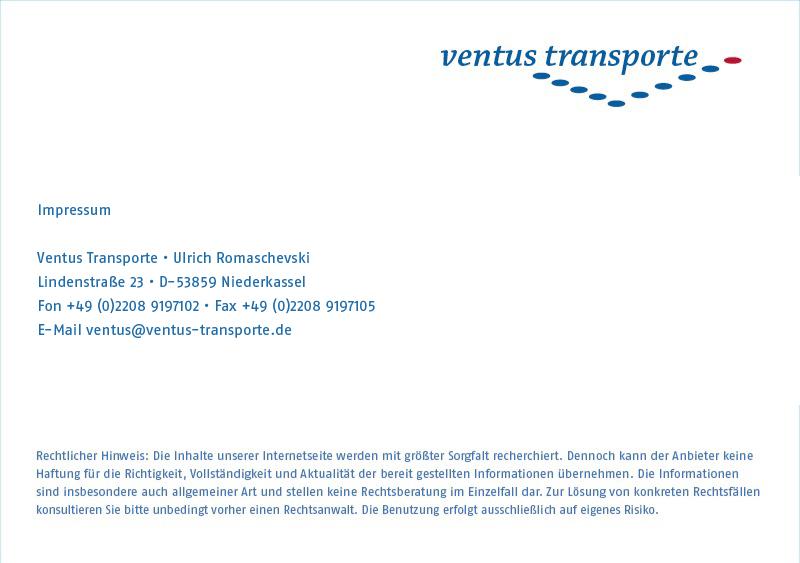 Ventus Transporte GbR Impressum